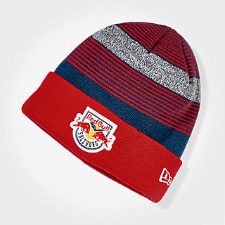 959156a2 New Era Striped Beanie (ECS16018): EC Red Bull Salzburg new-era-