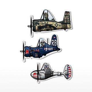 Plane Comic Sticker Set (TFB17029): The Flying Bulls plane-comic-sticker-set (image/jpeg)